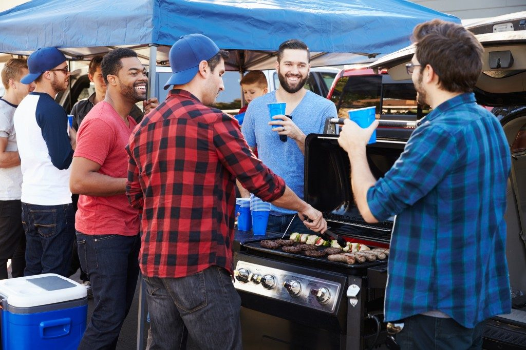 Group of people at a barbecue
