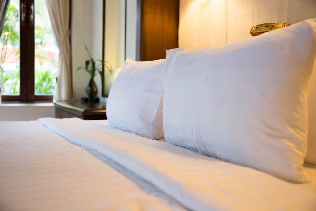 Pillows, mattresses orange light sleep.